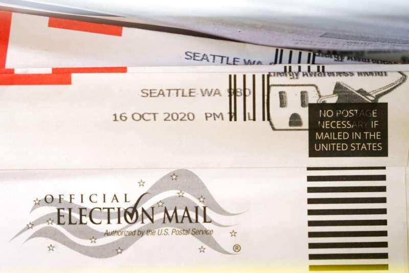 華盛頓州倫頓市的一份郵寄選票。(美聯社)