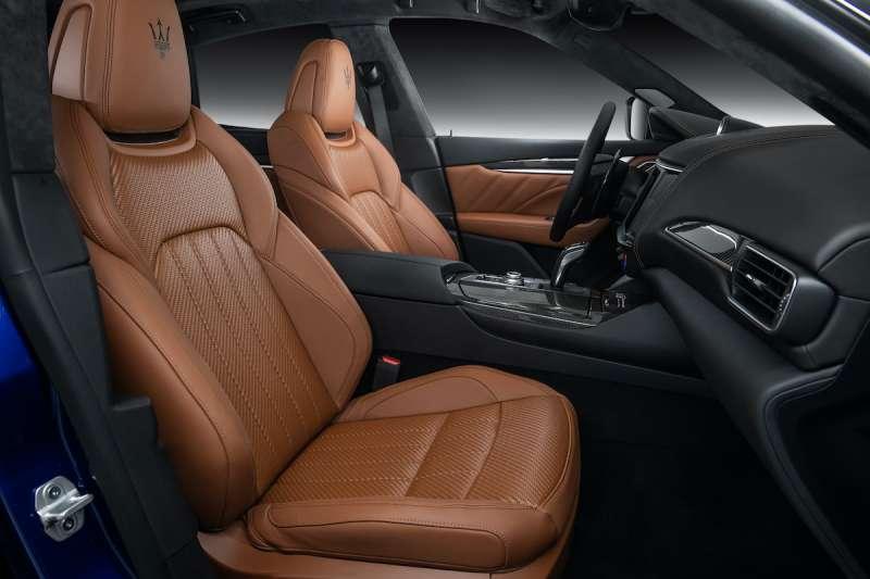新年式 Levante GranSport 導入 Ermenegildo Zegna Pelletessuta 編織皮革座椅列為選用配備(圖 / Maserati 提供)