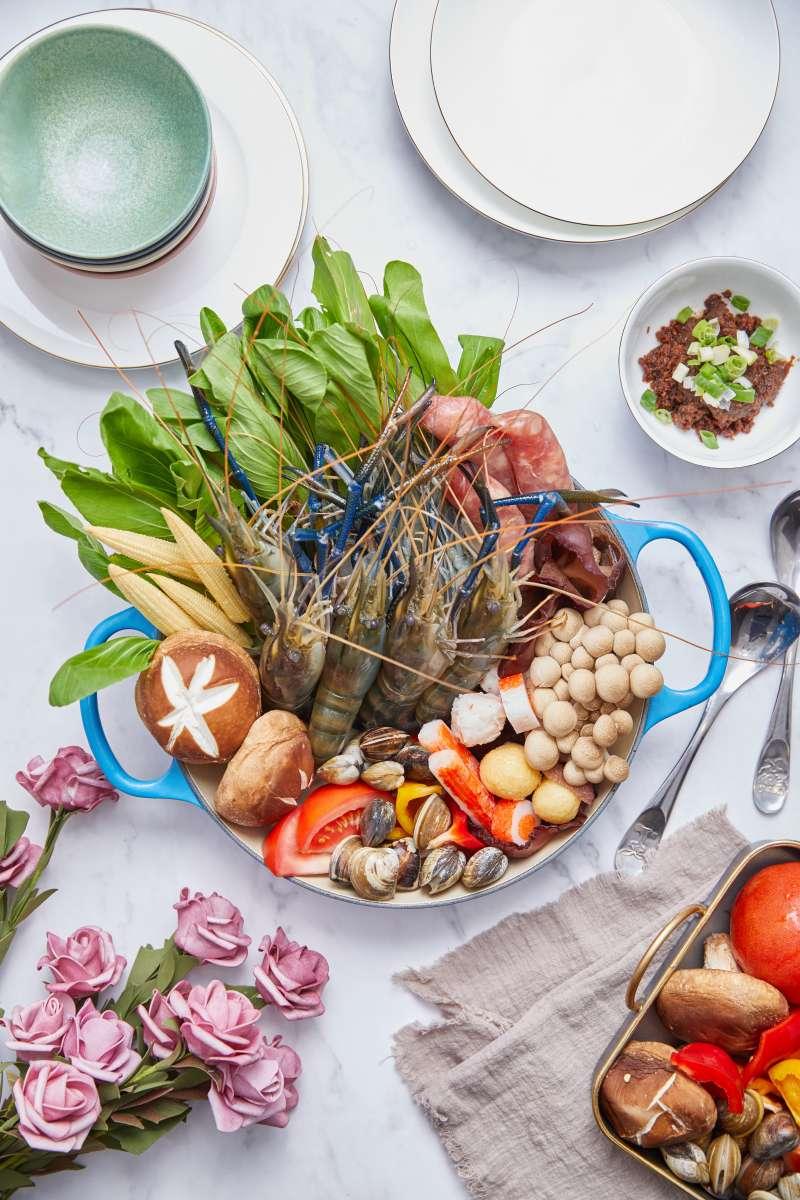 圖一、泰國蝦於近幾年為餐飲業的新寵兒,許多餐廳業者紛紛嘗試用泰國蝦入菜。(圖/段泰國蝦提供)