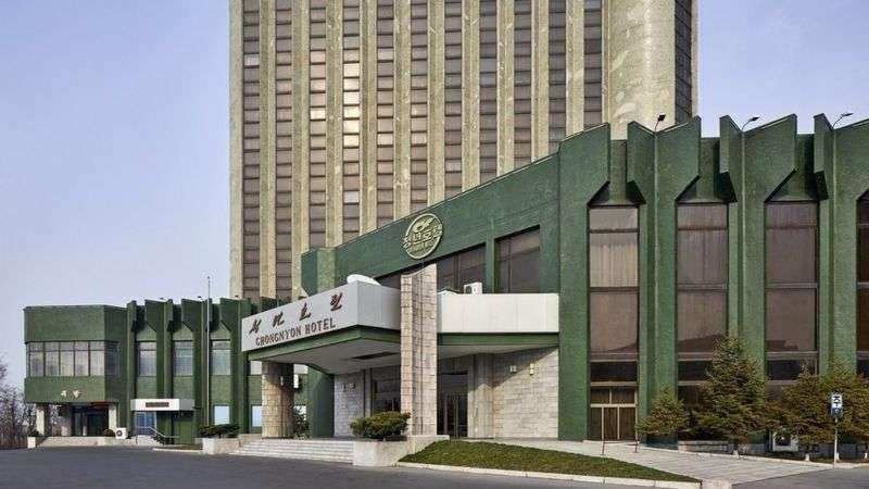 平壤酒店的建築承襲蘇聯風格(BBC News 中文)
