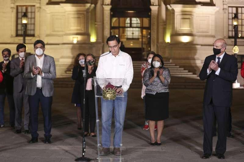 秘魯總統畢斯卡拉9日遭國會彈劾,黯然下台(美聯社)