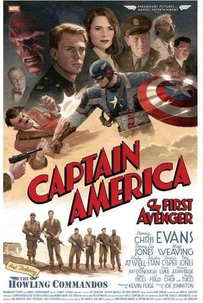 賞希特勒一個拳頭,是《美國隊長》系列作品,包括漫畫與電影的招牌標誌。(許劍虹提供)
