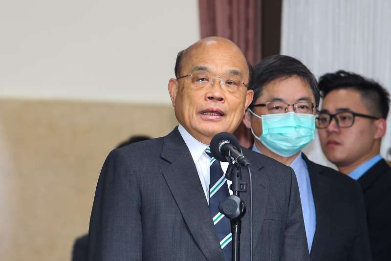 20201117-行政院長蘇貞昌17日於立院接受媒體聯訪。(顏麟宇攝)