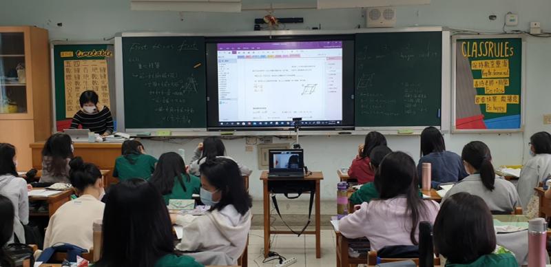 以北一女作為智慧校園典範,北市府將逐步把「智慧4.0」推動到全台北市33所高中職。(圖/台北市政府提供)