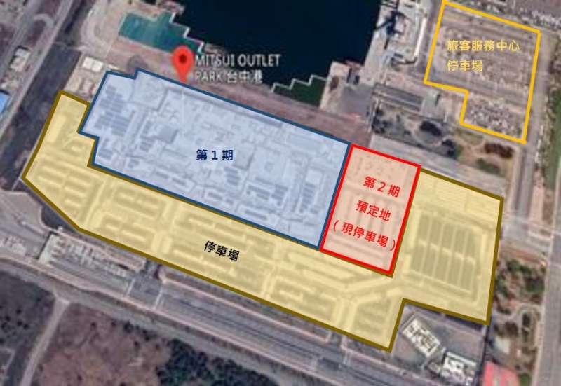 三井OUTLET的2期在1期原停車場位置。(三井不動產提供)