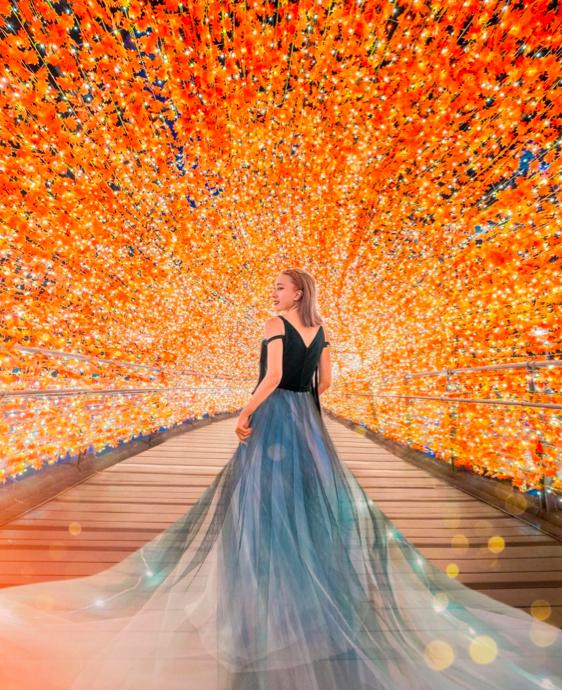 楓葉隧道十分浪漫。(圖/ ir47363@instagram提供)