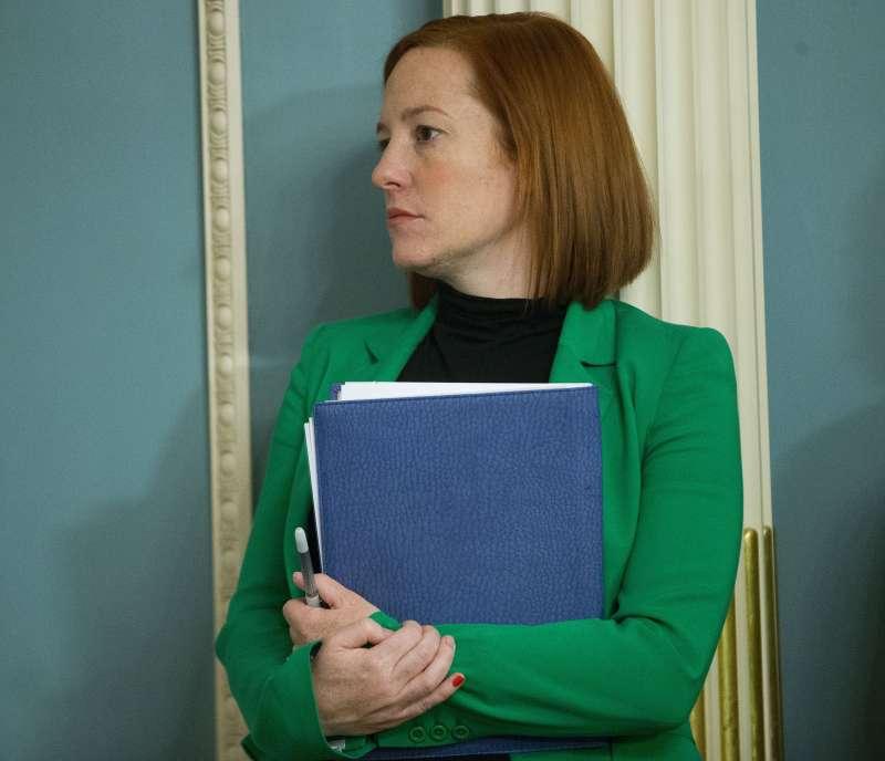 020年11月29日,美國總統當選人拜登與副手賀錦麗公布清一色為女性的白宮新聞團隊名單,前國務院發言人莎琪(Jen Psaki)將擔任白宮新聞秘書。(AP)