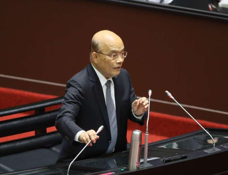 2020.12.01-行政院長蘇貞昌1日至立法院備詢。(柯承惠攝)