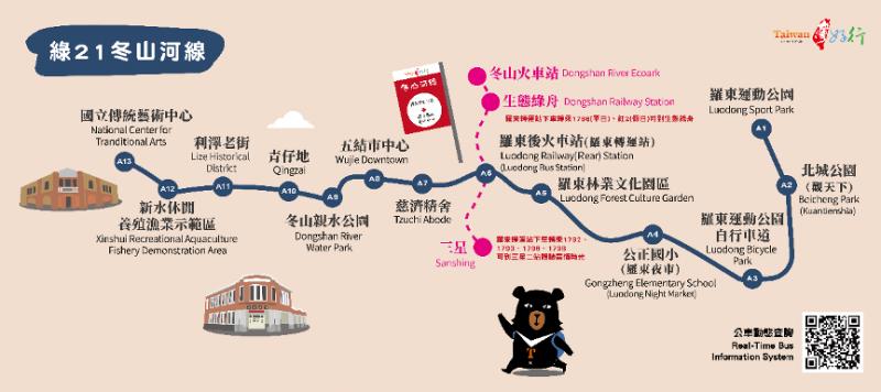 台灣好行冬山河線。(圖/台灣好行提供)