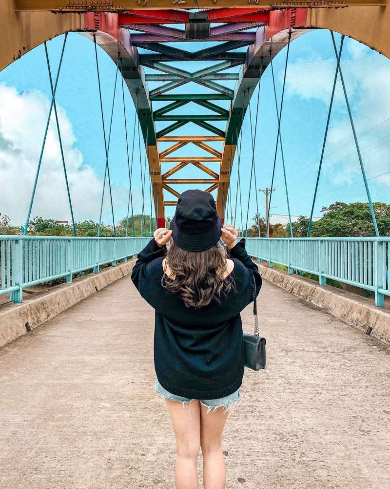 彩虹橋非常繽紛可愛(圖/elison528@instagram提供)