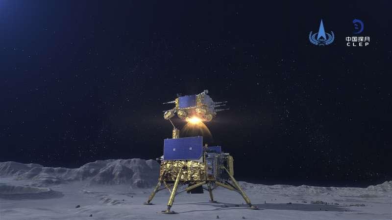 中國發射的「嫦娥」五號探月器(AP)