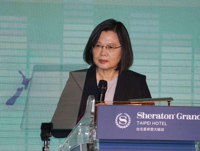 20201208-遠景基金會8日舉行「2020臺美日三邊印太安全對話」,總統蔡英文致詞。(盧逸峰攝)