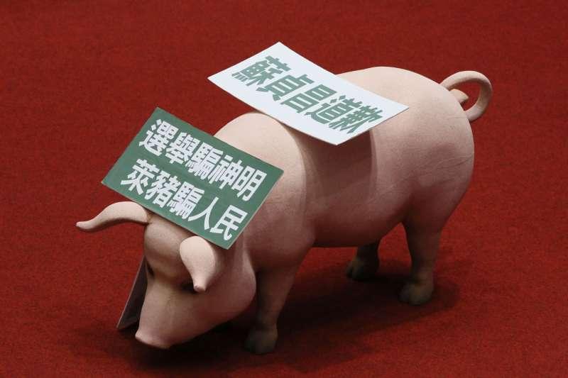 萊豬進口不是個有客觀判準的科學問題,而是政治問題。(柯承惠攝)