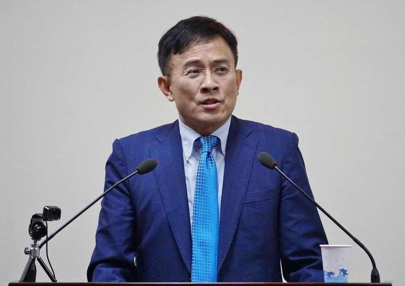 20201209-前政論節目主持人彭文正9日受邀於國民黨中常會演講。(盧逸峰攝)