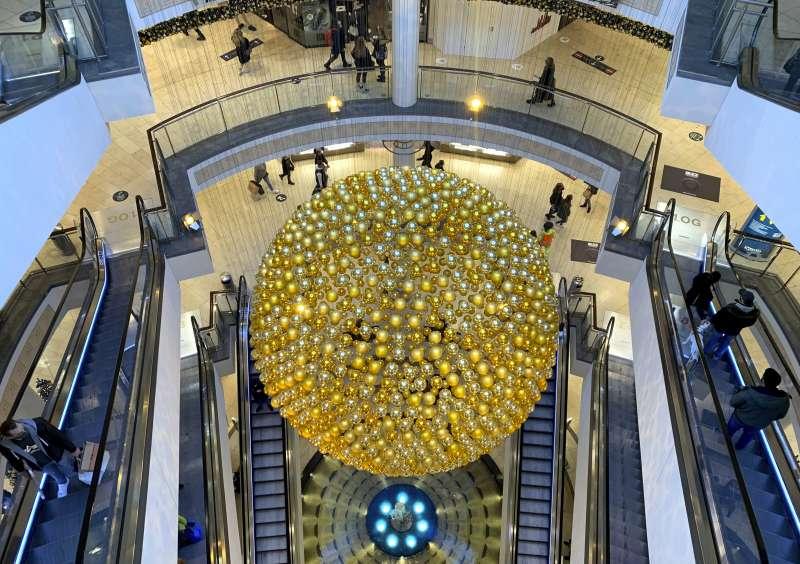 德國埃森購物中心在聖誕前夕十分冷清。(美聯社)