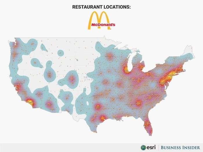 麥當勞在美國本土的分佈很廣,其實到哪裡都有機會看到你熟悉的麥當勞。(圖/慢活夫妻投資理財)