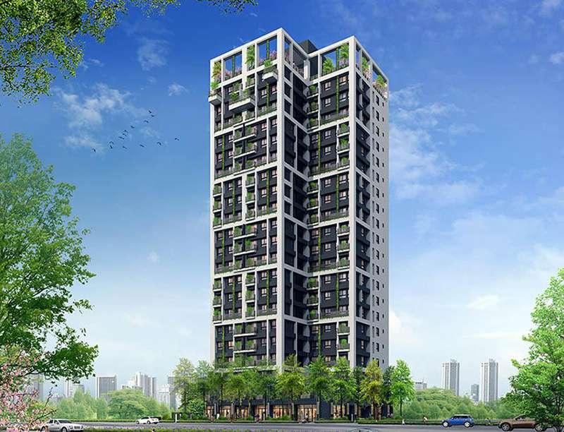 「豐謙森立方」響應台中宜居建築法規,垂直綠化、植森大陽台吸引自住客目光,此為3D外觀示意圖。(圖/富比士地產王提供)