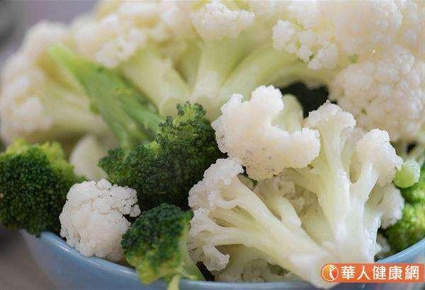 十字花科蔬菜如花椰菜、高麗菜,適合微波爐加水後烹煮。(圖/華人健康網)
