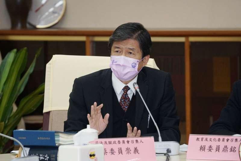 20201228-監察委員蔡崇義28日出席「行政院巡察後記者會」。(盧逸峰攝)