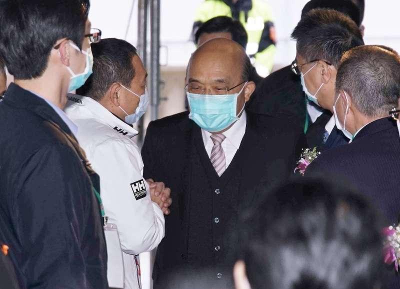 20201230-行政院長蘇貞昌30日出席警消社會住宅祈福動土典禮。(盧逸峰攝)