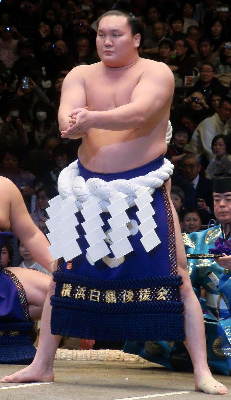 日本相撲力士、第69代橫綱白鵬翔。(FourTildes@Wikipedia/CC BY-SA 3.0)