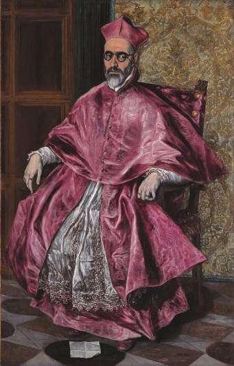 《一位樞機主教》A Cardinal 帆布油畫/1600 現藏於紐約大都會博物館。(韓秀提供)