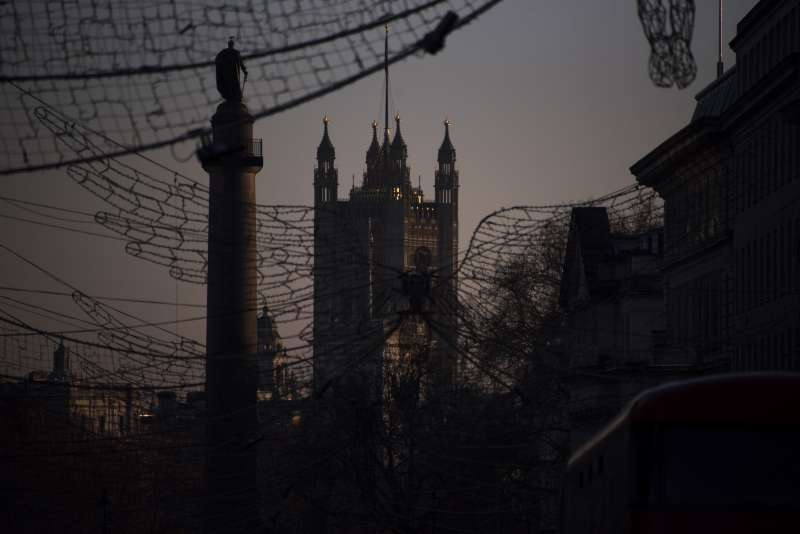 2021年1月,英國新冠疫情大盛,首都倫敦封城(AP)