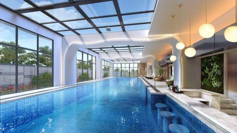 「VIE微美居」景觀泳池3D示意圖。(圖/業者提供)