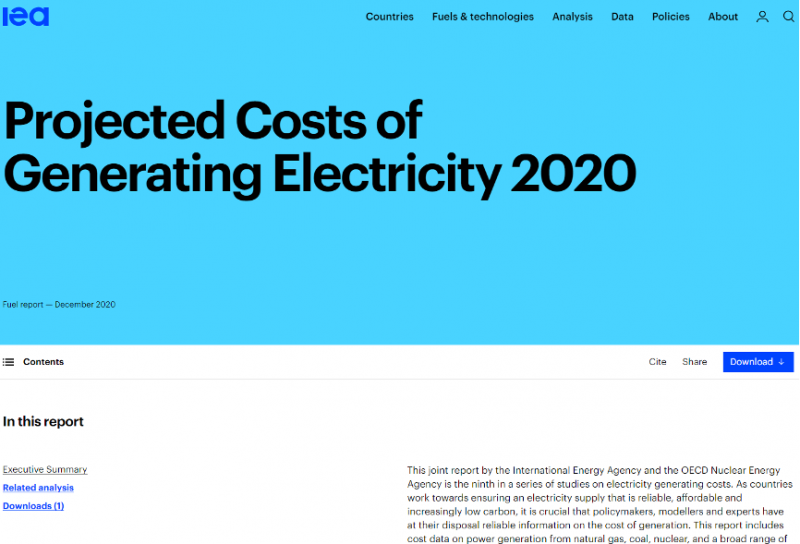 210111-2020預計發電成本報告(IEA官網)
