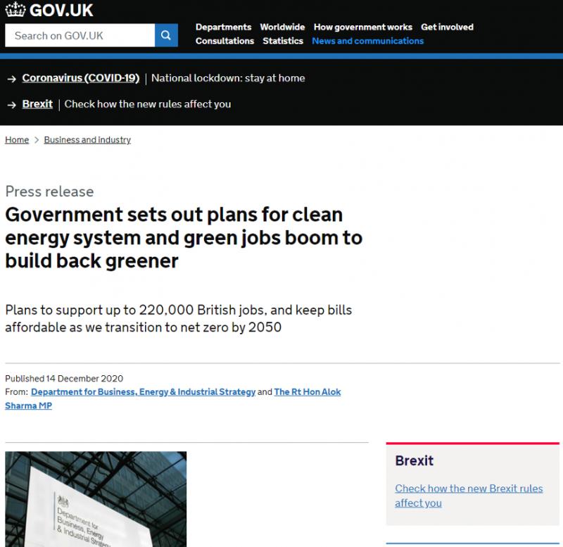 210111-英國《能源白皮書》將興建核能列為綠能建設的一部分(英國政府官網)