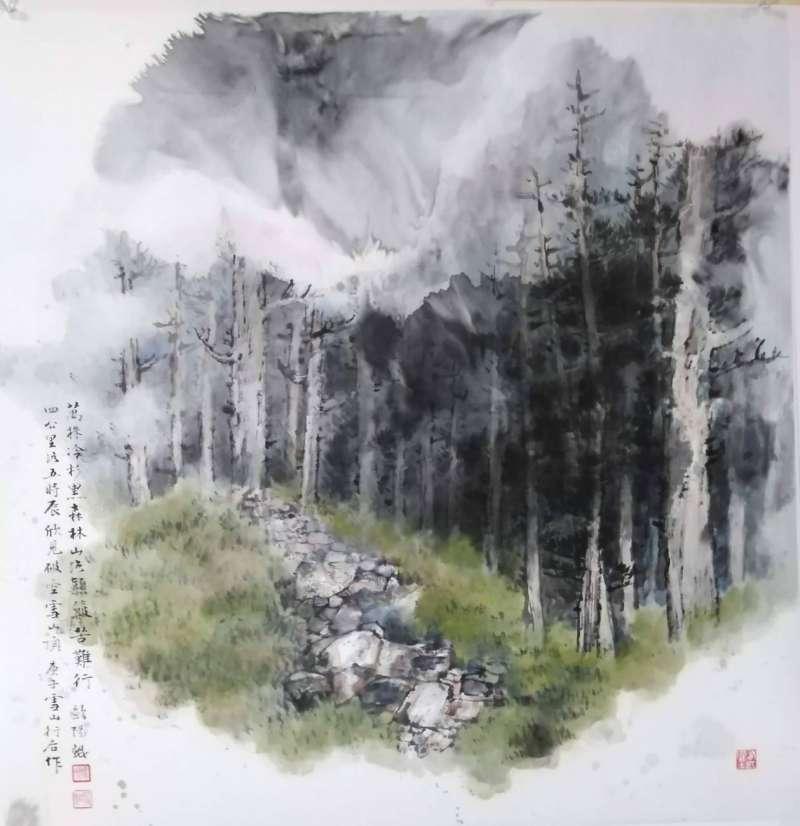 藝術家歐陽鯤以山水水墨畫及栩栩如生的各式虎畫作見長。(圖/藝術家歐陽鯤提供)