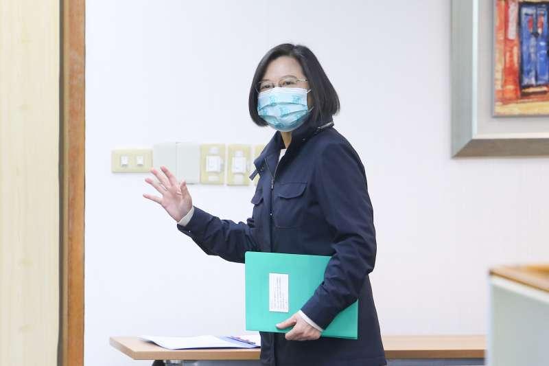 20210113-總統蔡英文13日出席民進黨中常會。(顏麟宇攝)