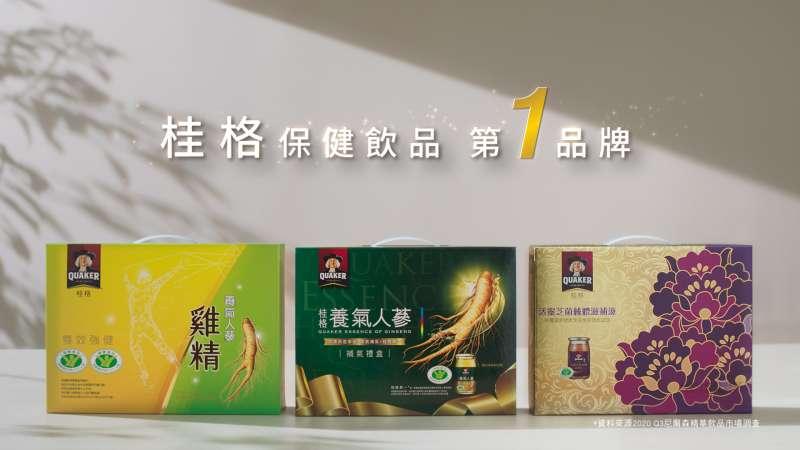 桂格保健飲品 第1品牌。(圖/佳格提供)
