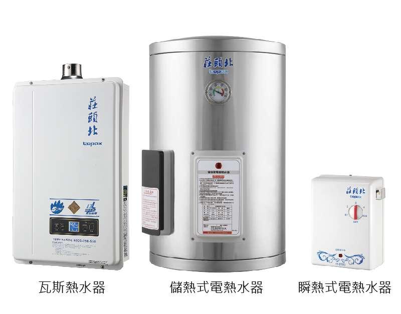 市面上熱水器上百種,到底怎麼挑才能省電又安全。(圖/取自莊頭北官網)