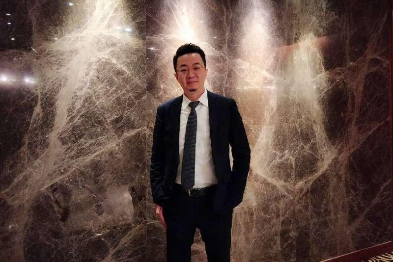 甲桂林廣告業務總經理陳衍豪表示,今年第一季甲桂林新推案量達240億元。(林喬慧攝)