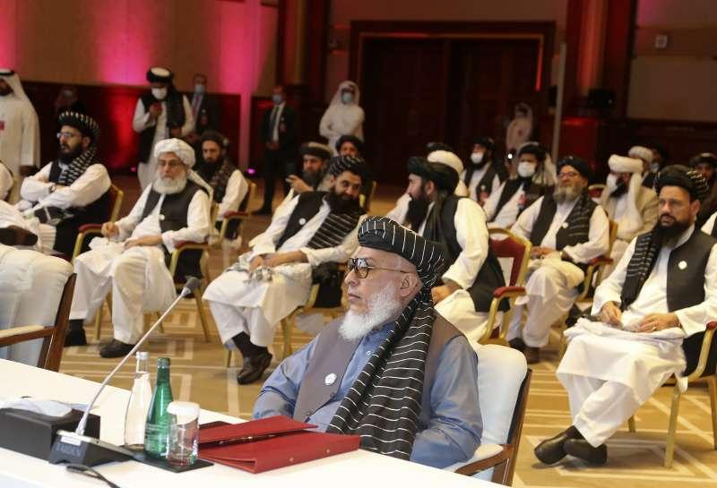 2020年9月,神學士與阿富汗政府展開歷史性會談。(AP)