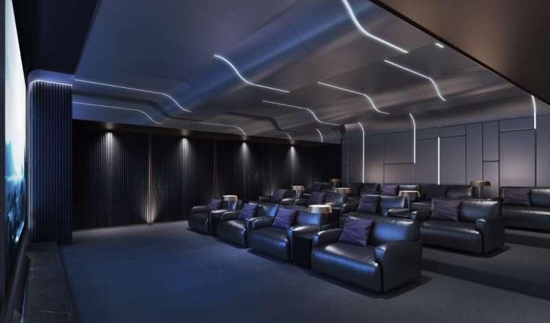 「大通大美」公設-電影院3D示意圖。(圖/富比士地產王提供)