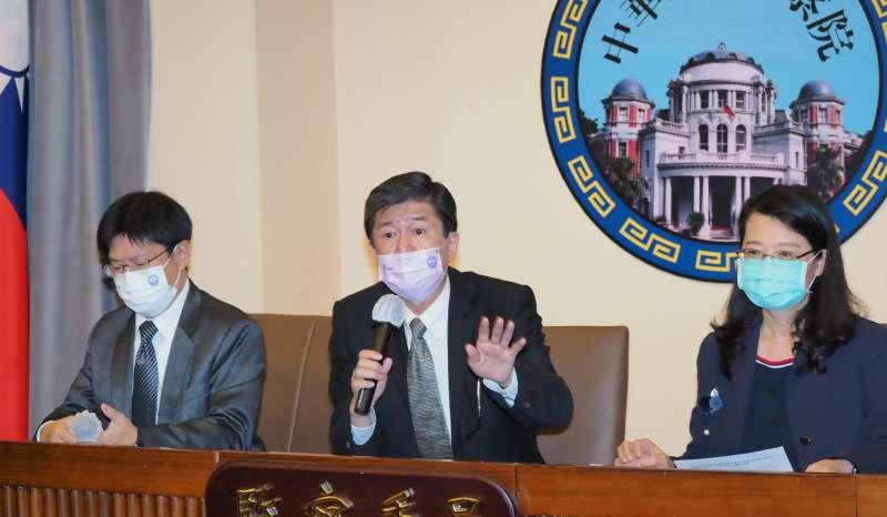 20210120-監委高涌誠(左)蔡崇義(中)王美玉(右)今天下午在監察院公布石木欽案調查報告。(林瑞慶攝)