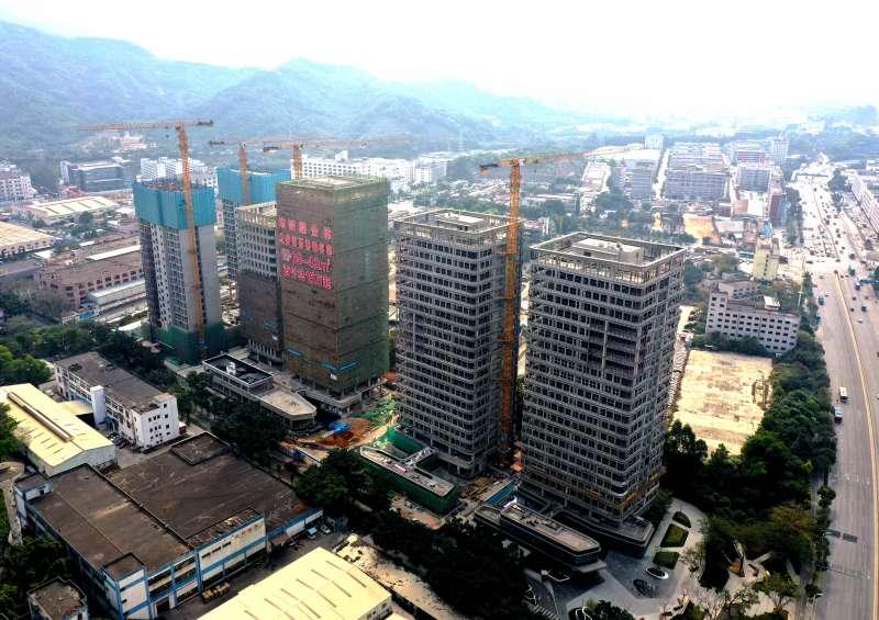 艾美特深圳工業區舊廠土地開發案預計2021年中完工,圖為目前進度。(艾美特提供)