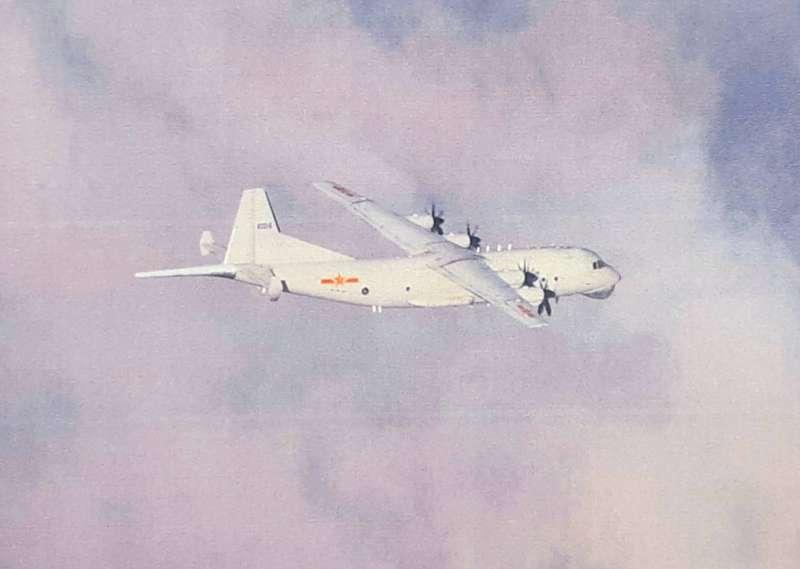 20210123-空軍司令部證實今日再有共機進入我西南空域,且數量高達13架。圖為運-8反潛機。(空軍司令部提供)