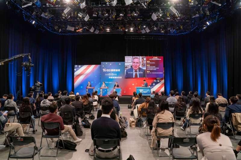 20210123-TVBS與長風基金會23日舉辦「拜登就職新風雲」論壇,在論壇進行中安插播出主播方念華與的哈佛大學甘迺迪政府學院創院院長艾利森的視訊訪談錄影。(長風基金會、TVBS提供)