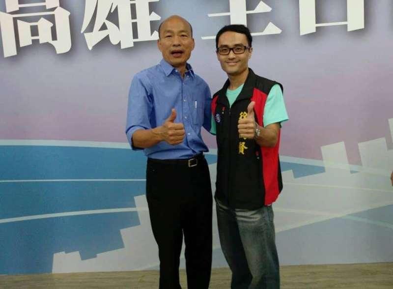 20210124-頻頻上媒體曝光的罷捷總部發言人徐尚賢,被發現具有黃復興系統的黃國山黨部黨代表的身分。(讀者提供)