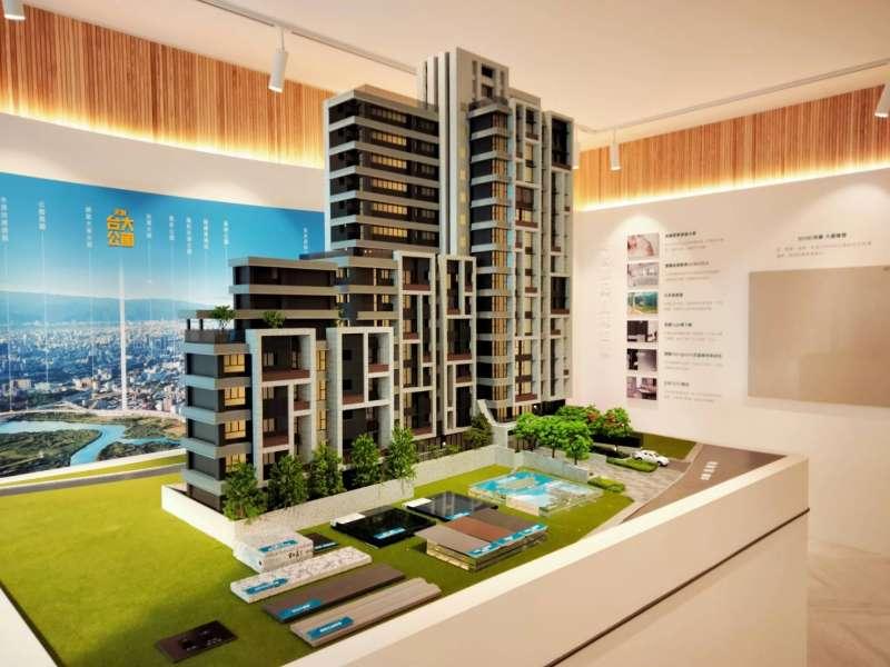 元利台大公館被業界稱是離元利最近的一次,建物規劃地上5、15樓,地下4樓兩棟建築。(林喬慧攝)