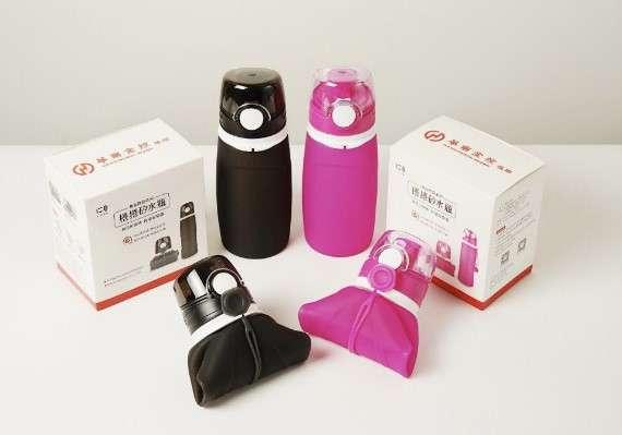 華南金發放的股東會紀念品「捲捲矽水瓶」。(圖/網路溫度計提供)
