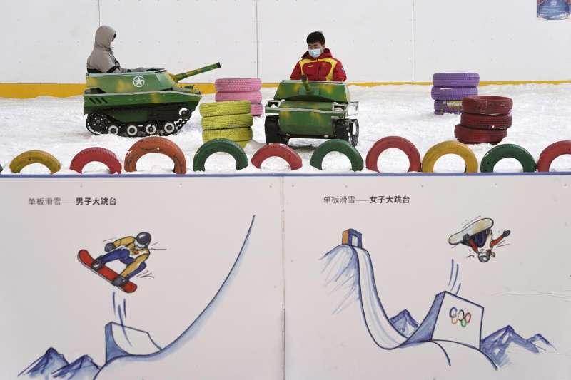 中國遭控在新疆犯下種族滅絕罪行,為2022年北京冬奧蒙上陰影。冬季奧運(AP)