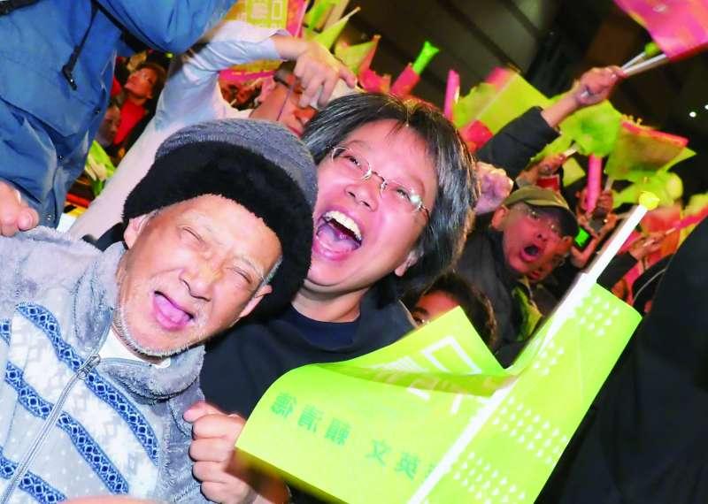 2020年總統大選,蔡英文以台灣選舉史上最高票的817萬票連任成功。(林瑞慶攝)