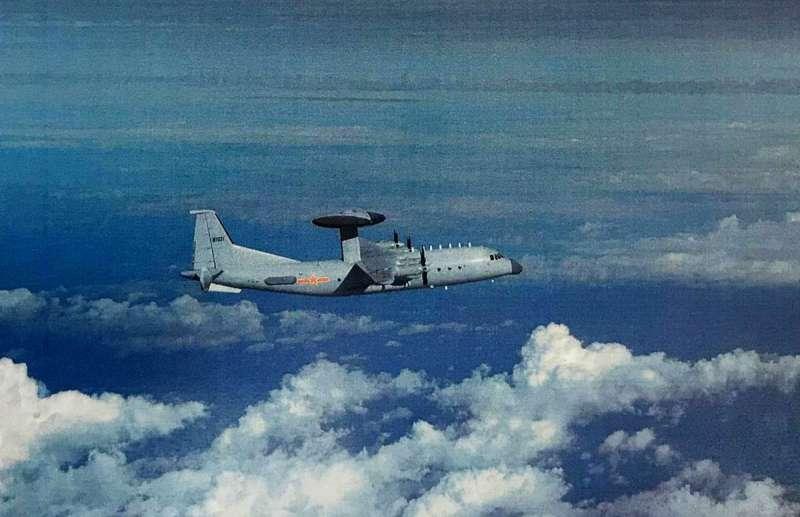 共軍近日曾出動空警500預警機進入我防空識別區西南空域。(空軍司令部提供)