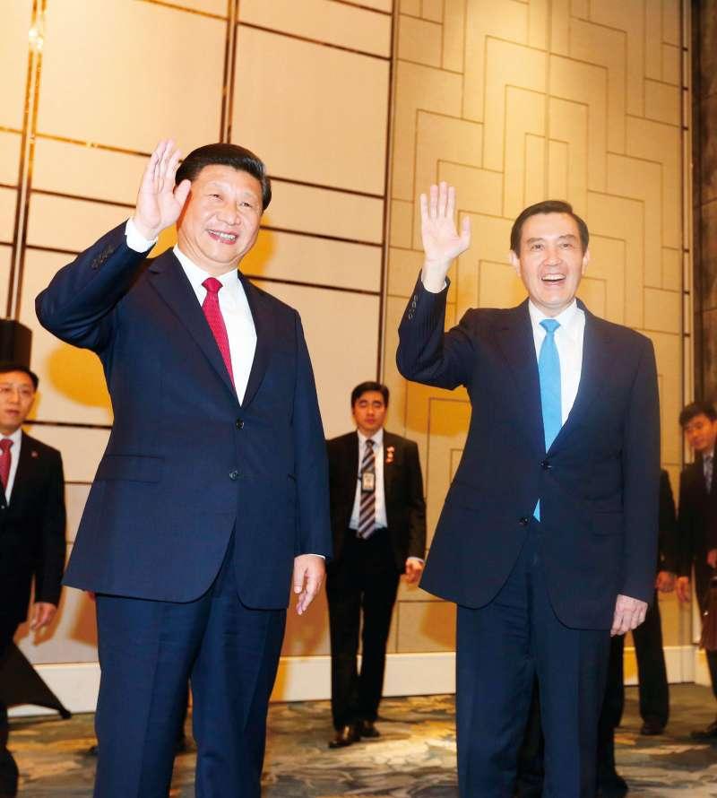 2015年11月5日新加坡馬習會是兩岸領導人首次會見,也實現馬英九念茲在茲的夢想。(林瑞慶攝)