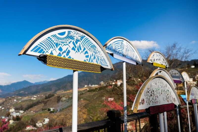 參山國家風景區管理處在梨山舉辦「梨山地景藝術」的地景藝術作品。(圖/參山國家風景區管理處提供)