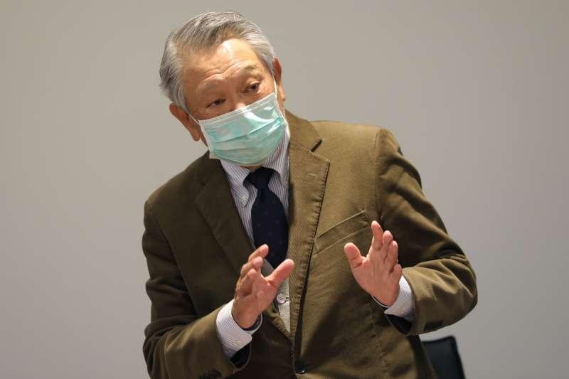 國光生技董事長詹啟賢親自出席簡報。(總統府提供)